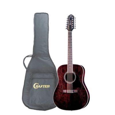 Электроакустическая гитара Crafter 12-ти струнная MD-70-12EQ/TBK + Чехол