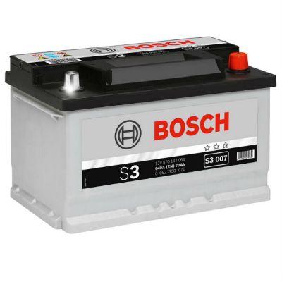 Автомобильный аккумулятор Bosch 70 о.п. (S3 007) 570 144 064 низк. 9164534