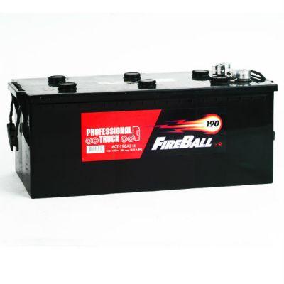 Автомобильный аккумулятор FireBall 6СТ-190 о.п. переходник ( - + ) 9168513