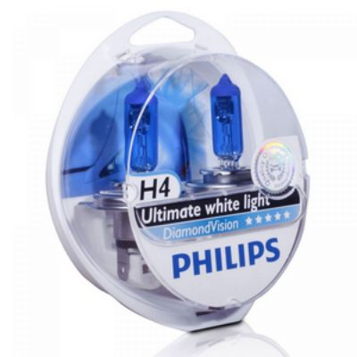 Philips ��������� P-12342DV2 12 �, �4, 60/55 ��, P43t-38 DIAMOND VISION 5000K (2��.) 9160108