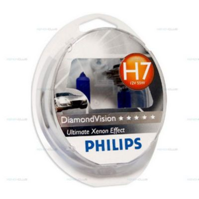 Автолампа Philips P-12972DV2 12 В, Н7, 55 Вт, P*26d DIAMOND VISION 5000K (2шт.) 9160125