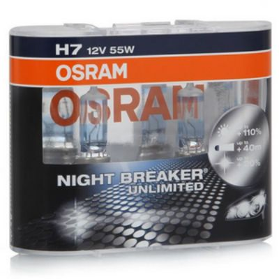 Osram Автолампа O-64210NBU2(EURO) H7 (55) PX26d+110% NIGHT BREAKER UNLIMITED (евробокс, 2шт) 12V 9185248