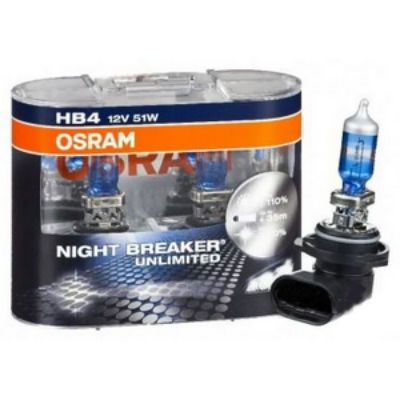 Osram Автолампа O-9006NBU2(EURO) HB4/9006 (51) P22d+110% NIGHT BREAKER UNLIMITED (евробокс, 2шт) 12V 9185265