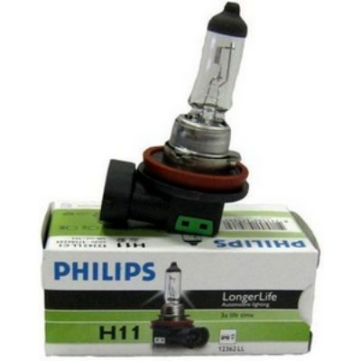 Philips Автолампа P-12362LLECO H11 (55) PGJ19-2 LONG LIFE ECO VISION 12V 9185383