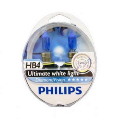 Philips Автолампа P-9006DV2 HB4/9006 (55) P22d DIAMOND VISION 5000K (2шт) 12V 9185414
