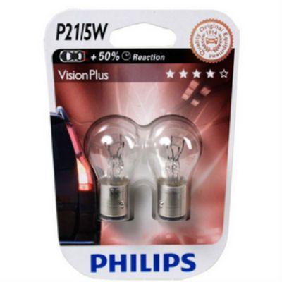Philips ��������� P-12495PR P21/5W (BAY15d)+30% PREMIUM RED 12V 9185425