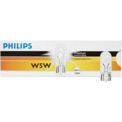 Philips Автолампа P-12961 W5W (W2.1*9.5d) 12V 9185471