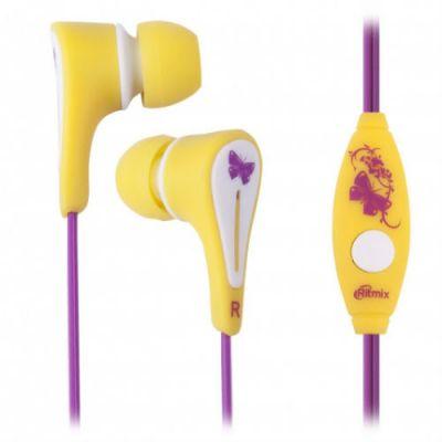 Наушники Ritmix RH-012M kids girls yellow