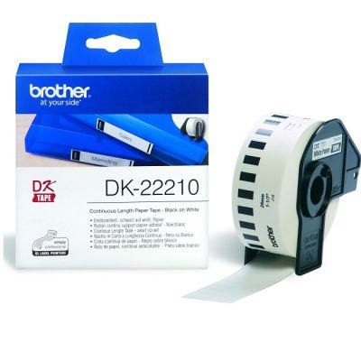 Бумага Brother Белая бумажная клеящаяся лента (DK22210)