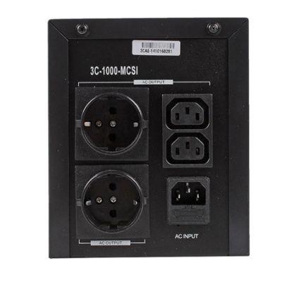 ИБП 3Cott 3C-1000-MCSI, 1000 ВА / 600 Вт, линейно-интерактивный, металлический корпус, 3-х ступенчат 3C-1000-MCS