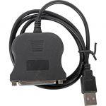 Кабель Orient USB AM to LPT DB25F (порт), кабель-адаптер 0.85м, крепление гайки ULB-225