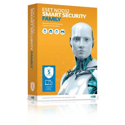 ESET NOD32-ESM-NS(BOX)-1-5 �� Eset NOD32 Smart Security Family - �������� �� 1 ��� �� 5��