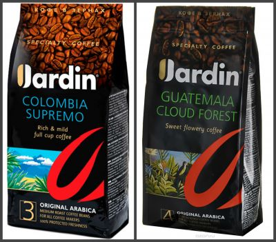Кофе Jardin промо Колумбия Супремо 1000г.+ Гватемала Клауд Форест 1000г. зер.жар.прем/с. 1124-04