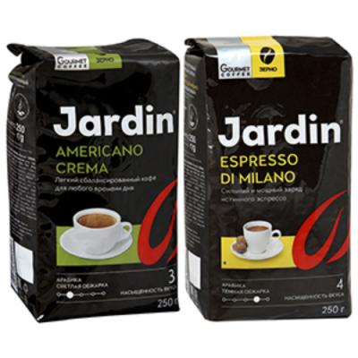 Кофе Jardin промо Американо Крема 250г.+Эспрессо Ди Милано 250г. зер.жар.прем/с. 1123-10