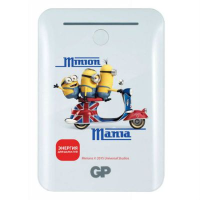 GP Мобильный аккумулятор Portable PowerBank GL301WE Minions Scooter