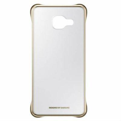 Чехол Samsung (клип-кейс) для Samsung Galaxy A3 (2016) Clear Cover золотистый/прозрачный EF-QA310CFEGRU