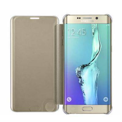 Чехол Samsung книжка для Galaxy S6 Edge Plus ClVCover G928 золотистый EF-ZG928CFEGRU