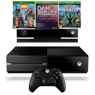 Игровая приставка Microsoft Xbox One 500 GB + Kinect + DCS, KSR, Zoo Tycoon (6QZ-00088)