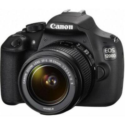 Зеркальный фотоаппарат Canon EOS 1200D KIT 18-55IS II черный 9127B132