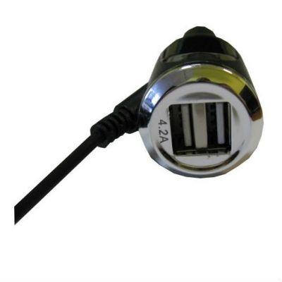 Зарядное устройство Espada автомобильное на USB 2 порта + кабель iPhone5/5S 6/6S ACU2UI