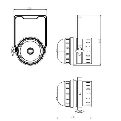 Прожектор Involight светодиодный PAR56 (чёрн) COBPAR30T/BK
