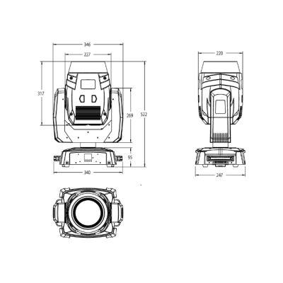 Вращающаяся голова Involight LED MH140B