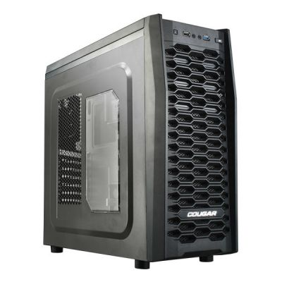 Корпус Cougar MX300, ATX , w/o PSU, 1xUSB3.0, 1xUSB2.0, Black, 1x12cm fan 5MMB