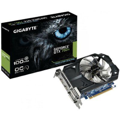 ���������� Gigabyte PCI-E16 NVIDIA GeForce GTX 750 GV-N75TOC-1GI