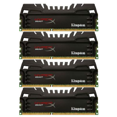 Оперативная память Kingston Kit4 DDR3 16Gb 1866MHz pc-14900 HX318C9T3K4/16