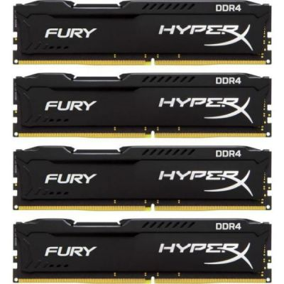 Оперативная память Kingston Kit4 DDR4 16Gb 2400MHz pc-19200 HX424C15FBK4/16