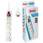 Сетевой фильтр Buro 10м (5 розеток) 500SH-10-W