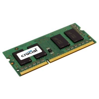 Оперативная память Crucial by Micron DDR-III 4GB (PC3-12800) 1600MHz SO-DIMM (Retail) Single Ranked