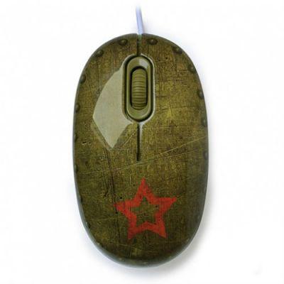 Мышь проводная CBR + коврик Tank Battle
