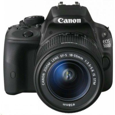 Зеркальный фотоаппарат Canon EOS 100D Kit 18-55 DC III (черный) [8576B013]