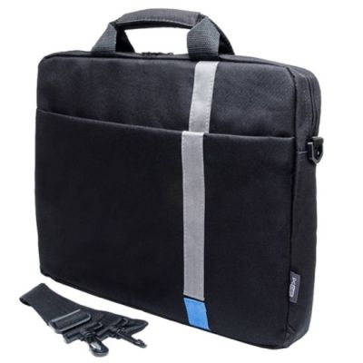 "Сумка Pc Pet 15.6"" Polyester HQ Classic Toplader Front compartment Blue Patch Черный PCP-1001BL"