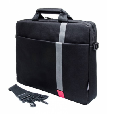 "Сумка Pc Pet 15.6"" Polyester HQ Classic Toplader Front compartment Red Patch Черный PCP-1001RD"