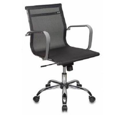 Офисное кресло Бюрократ руководителя M01 низкая спинка черный M01 сетка крестовина хромированная CH-993-Low