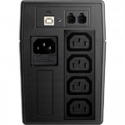 ИБП FSP UPS 650VA VESTA 650 Black защита телефонной линии, USB, LCD PPF3600600