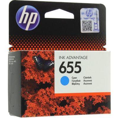 Картридж HP 655 Blue/Голубой (CZ110AE)