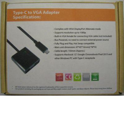 Espada Видеоадаптер USB3.1 type C to VGA EusbCvga