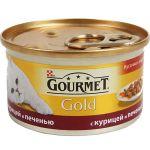Консервы Gourmet Gold для кошек кусочки в подливке курица/печень 85г (упак. 24 шт) (12130919)