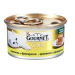 Консервы Gourmet Gold для кошек кусочки в паштете с кроликом по-французски 85г (упак. 24 шт) (12254211)