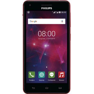 Смартфон Philips V377 8Gb 3G Black Red 867000133586