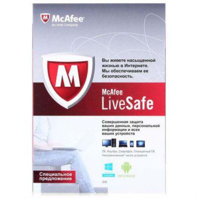 Антивирус McAfee LiveSafe Promo BOX (BOXMLS139001RAA)