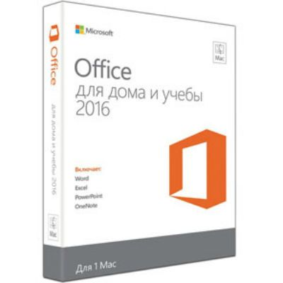 Программное обеспечение Microsoft Office Mac Home Student 2016 Russian Russia Only Medialess GZA-00585