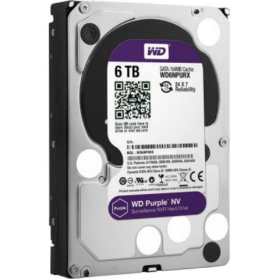 Жесткий диск Western Digital SATA-III 6Tb Purple NV WD6NPURX