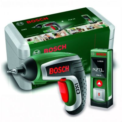Набор Bosch инструмента (лаз.дальномер PLR15 + акк.шур. IXO4 Upgrade) 0603672003
