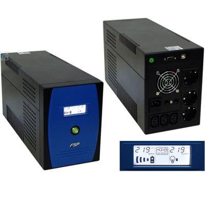 ИБП FSP EP2000 2000VA/1200W LCD Display RS232,RJ11,USB (3 IEC, 3 EURO) PPF12A0304