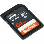 Карта памяти SanDisk 64GB SDXC Class 10 UHS-I Ultra SDSDUNB-064G-GN3IN