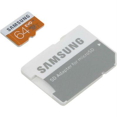 Карта памяти Samsung 64GB EVO microSDXC Class 10 MB-MP64DA/RU